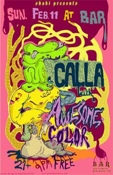 Cartoon: Calla concert poster (medium) by John Bent tagged calla,rock,event,posters,punk,