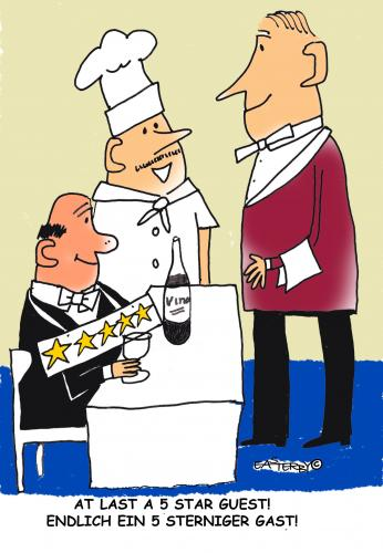 Cartoon: 5 Star guest (medium) by EASTERBY tagged dining,waiters