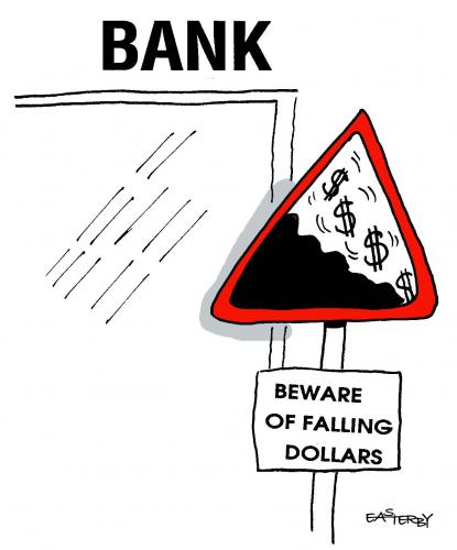 Cartoon: dollar horrar (medium) by EASTERBY tagged banks,finance