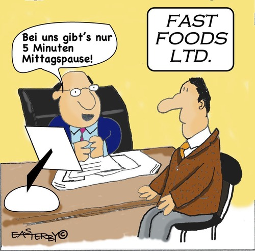 Cartoon: Fast food (medium) by EASTERBY tagged fast,food