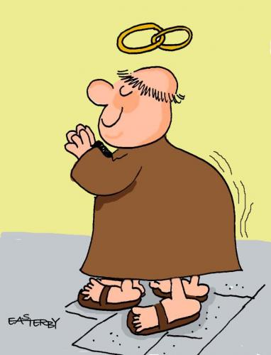 Cartoon: Gay monks (medium) by EASTERBY tagged gay,monks,religion