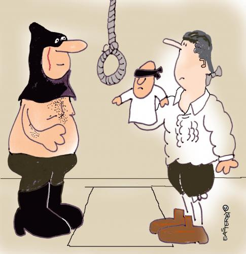 Cartoon: Hang him (medium) by EASTERBY tagged executions