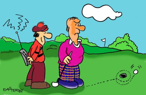 Cartoon: Remote controlled Golf (medium) by EASTERBY tagged sporty,or,not