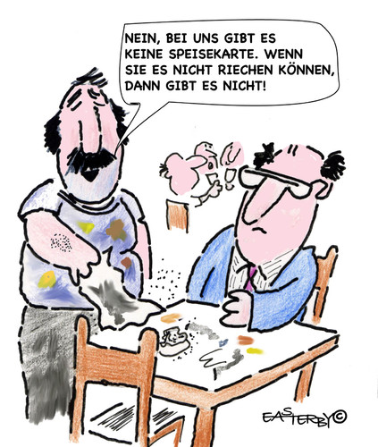 Cartoon: SPEISEKARTE!!??? (medium) by EASTERBY tagged restaraunts,eatingout