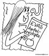 Cartoon: Apfel Rezepte (small) by EASTERBY tagged eve apple snake cookbooks rezeptbooks