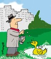 Cartoon: Clockwork Duck (small) by EASTERBY tagged pensioner duckfeeding