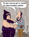 Cartoon: Executioners Elbow (small) by EASTERBY tagged executions,first,aid