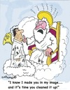 Cartoon: Heavenly annoyance (small) by EASTERBY tagged heaven,god,angels