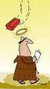 Cartoon: HOLY ORDERS 9 (small) by EASTERBY tagged monks,halos,faith,believing,accidents