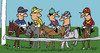 Cartoon: Horse Race (small) by EASTERBY tagged horse racing jockeys