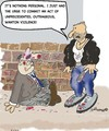 Cartoon: Keep our streets safe!!! (small) by EASTERBY tagged mugging streetfight robbery
