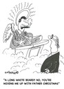 Cartoon: Mistaken identity (small) by EASTERBY tagged god,heaven,father,christmas