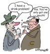 Cartoon: Only one mouth!!! (small) by EASTERBY tagged alcohol,drinkproblems