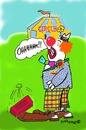 Cartoon: OOOohhhhh!!! (small) by EASTERBY tagged circus clowns