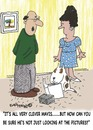 Cartoon: PICTURE LOOKERS WELCOME (small) by EASTERBY tagged dogowners training