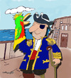 Cartoon: Pirate and Parrot glove puppet (small) by EASTERBY tagged pirates toys