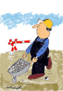 Cartoon: Road Signs 10 (small) by EASTERBY tagged road works signs