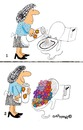 Cartoon: Toilet Flowers (small) by EASTERBY tagged toilets clening powder