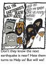 Cartoon: When will they ever learn (small) by EASTERBY tagged hate love help aid