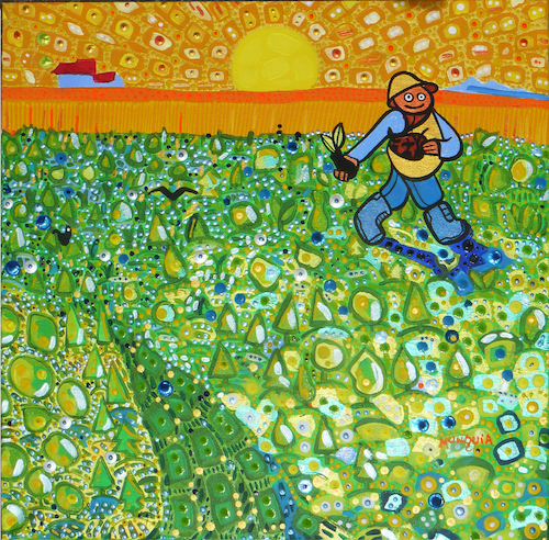 Cartoon: Lets reforest (medium) by Munguia tagged sower,at,sunset,vincent,van,gogh,jean,francois,millet,green