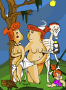 Cartoon: Ages of Wilma (small) by Munguia tagged hans baldung ages of man women men age flintstones horror parodies famous paintings haloween