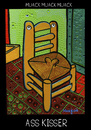 Cartoon: Ass Kisser (small) by Munguia tagged chair,van,gogh,pipe,parody,painting