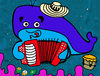 Cartoon: Ballenato (small) by Munguia tagged colombia,vallenato,ballenato,ballena,musica,music,whale
