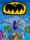 Cartoon: BatMobile (small) by Munguia tagged bat man batmobile batimovil villians captain cool catwoman cat joker riddler pinguin clay two faced faces poison ivy munguia calcamunguias