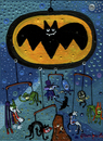Cartoon: BatMovil (small) by Munguia tagged batman batmovil batomobil villians joker bane pinguin riddler catwoman faced poison ivy