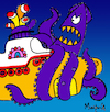 Cartoon: Biq Squid (small) by Munguia tagged yellow submarine the beatles cover album parodies parody music