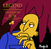 Cartoon: BOB (small) by Munguia tagged bob,marley,legend,cover,album,parody,simpson,sideshow,wailers,rotweillers,calcamunguias
