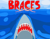Cartoon: Braces (small) by Munguia tagged jaws,spilberg,tiburon,frenillos,parody,movie,cartel