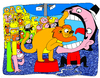 Cartoon: circus (small) by Munguia tagged circus,leon,lyon,clown