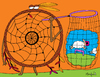 Cartoon: Dream Catcher (small) by Munguia tagged dream,catcher,sheep,indian,munguia,costa,rica,caricaturas