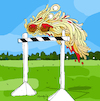 Cartoon: Flying Spaghetti Monster (small) by Munguia tagged beck,odelay,dog