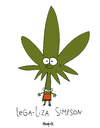 Cartoon: LegaLiza Simpson (small) by Munguia tagged legalize,it,marihuana,simpsons,lisa