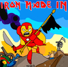Cartoon: Man made in Iron (small) by Munguia tagged iron,man,maiden,the,trooper,cover,album,parodies,parody