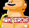 Cartoon: Number One (small) by Munguia tagged the bends radiohead cover album parody parodies piss spoof version funny fun