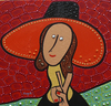 Cartoon: Peace and love (small) by Munguia tagged woman,with,hat,amedeo,modigliani,parody,munguia