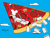 Cartoon: Pizza Flyer (small) by Munguia tagged pizzapitch,pizza,food,flyers,disign,delta,slice,flying,fly
