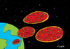 Cartoon: pizza invasion (small) by Munguia tagged pizzapitch,space,ufo,aliens,fast,food,munguia,costa,rica,cartoon