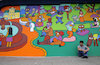 Cartoon: Police Mural Part 1 (small) by Munguia tagged mural,cartoon,parody,painting,wall,street,art