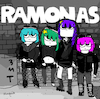 Cartoon: Ramonas (small) by Munguia tagged ramones album cover parodies parody famous scott pilgrim comic funny version spoof music cd