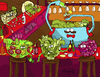 Cartoon: Salad Bar (small) by Munguia tagged salad,bar,drinking,pub