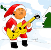 Cartoon: Santa Na (small) by Munguia tagged carlos,santana,guitar,xmas,san,nicolas,colacho