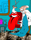 Cartoon: Sin pelos en la Lengua (small) by Munguia tagged pelos,lengua,rolling,stones,john,pasche,sticky,fingers,70s,rock,and,roll,british