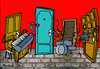 Cartoon: The Doors (small) by Munguia tagged the,doors,la,woman,jim,morrison,music,rock,70s