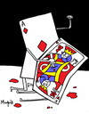 Cartoon: The Killer Ace (small) by Munguia tagged ace,as,cards,21