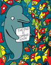 Cartoon: The Message (small) by Munguia tagged dolphin,end,is,near,coming,soon,apocallipsis,ocean
