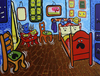 Cartoon: The Panic Room (small) by Munguia tagged the,room,yellow,vincent,van,gogh,painting,famous,parody,thrill,freedom,of,speech,charlie,hebbo,terrorism
